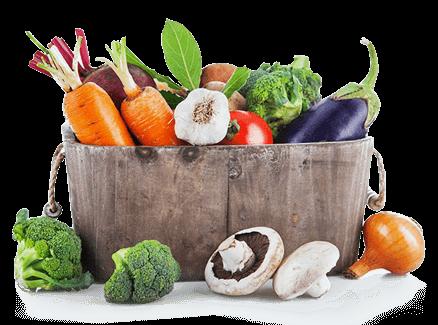 овощи в коробке