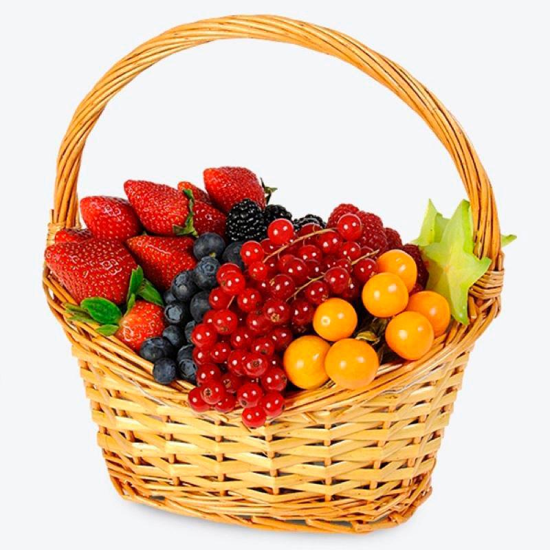 Картинка корзинка с фруктами