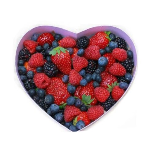 """Коробка с ягодами """"Сердце"""", размер S"""