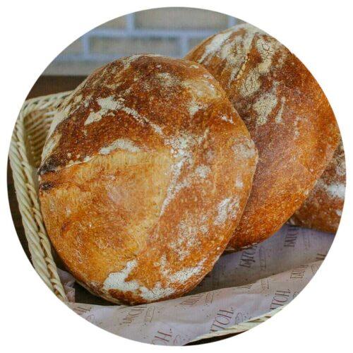 Пшеничный деревенский хлеб