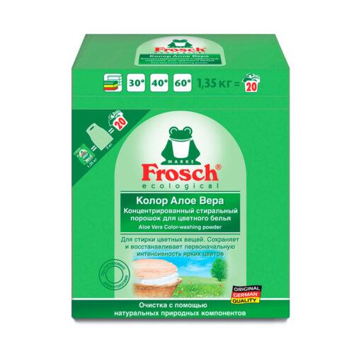 Концентрированный стиральный порошок для цветного белья Frosch Алоэ Вера 1,35кг
